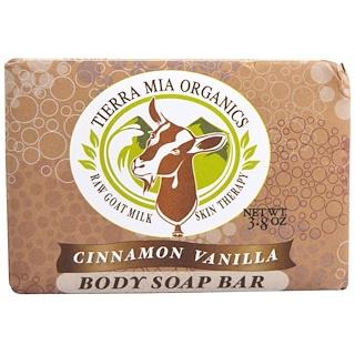Tierra Mia Organics, 生羊奶皮膚護理,身體皂,肉桂香草,3.8盎司