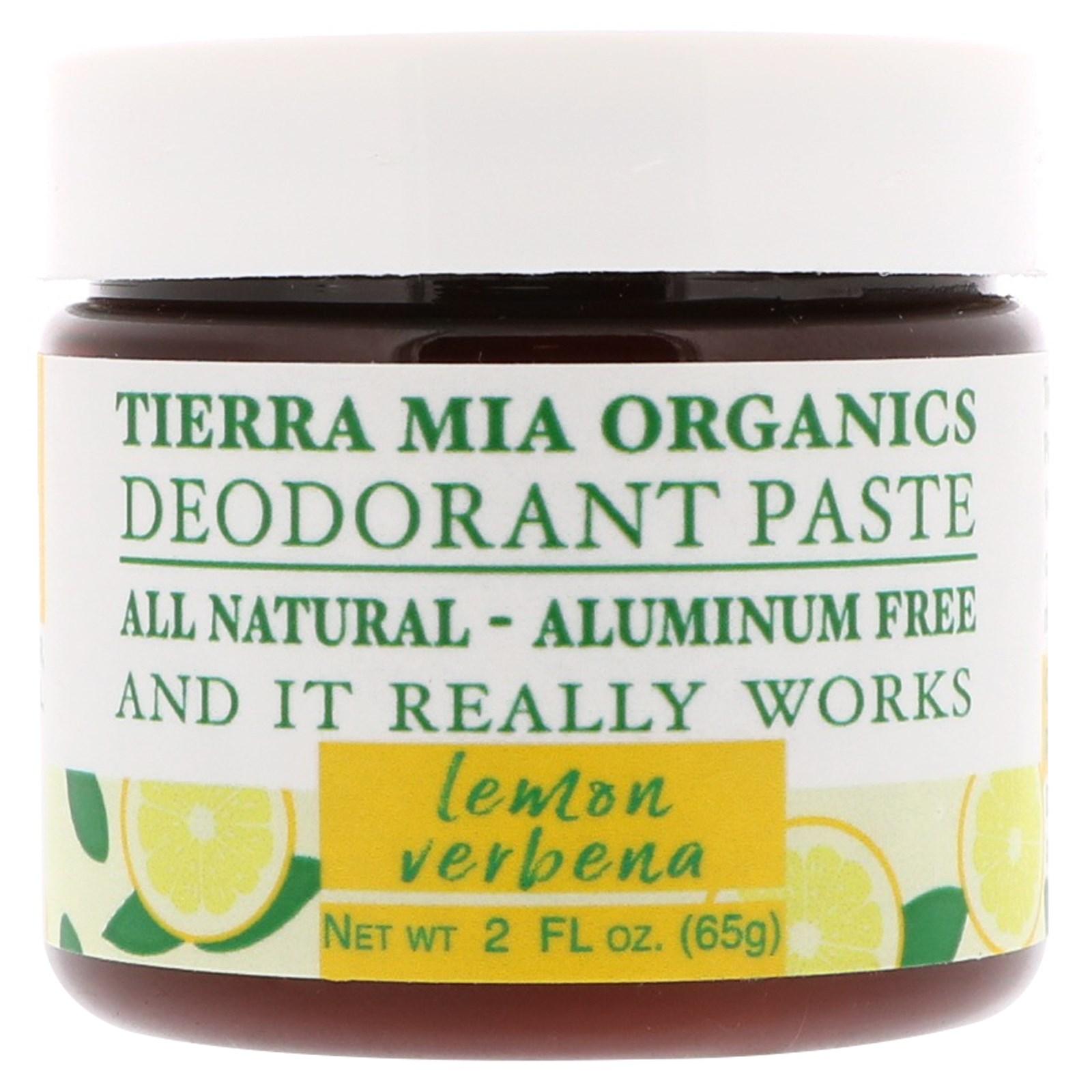Tierra Mia Organics, Deodorant Paste, Lemon Verbena, 2 fl oz (65 g)