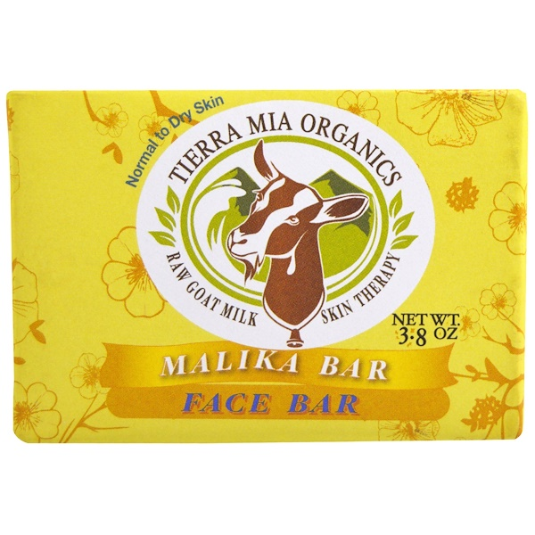 Tierra Mia Organics, ヤギの生ミルクのスキンセラピー, フェイスバー, Malika, 3.8 オンス