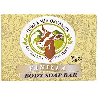 Tierra Mia Organics, 生羊奶皮膚護理,身體皂,香草,3.8盎司