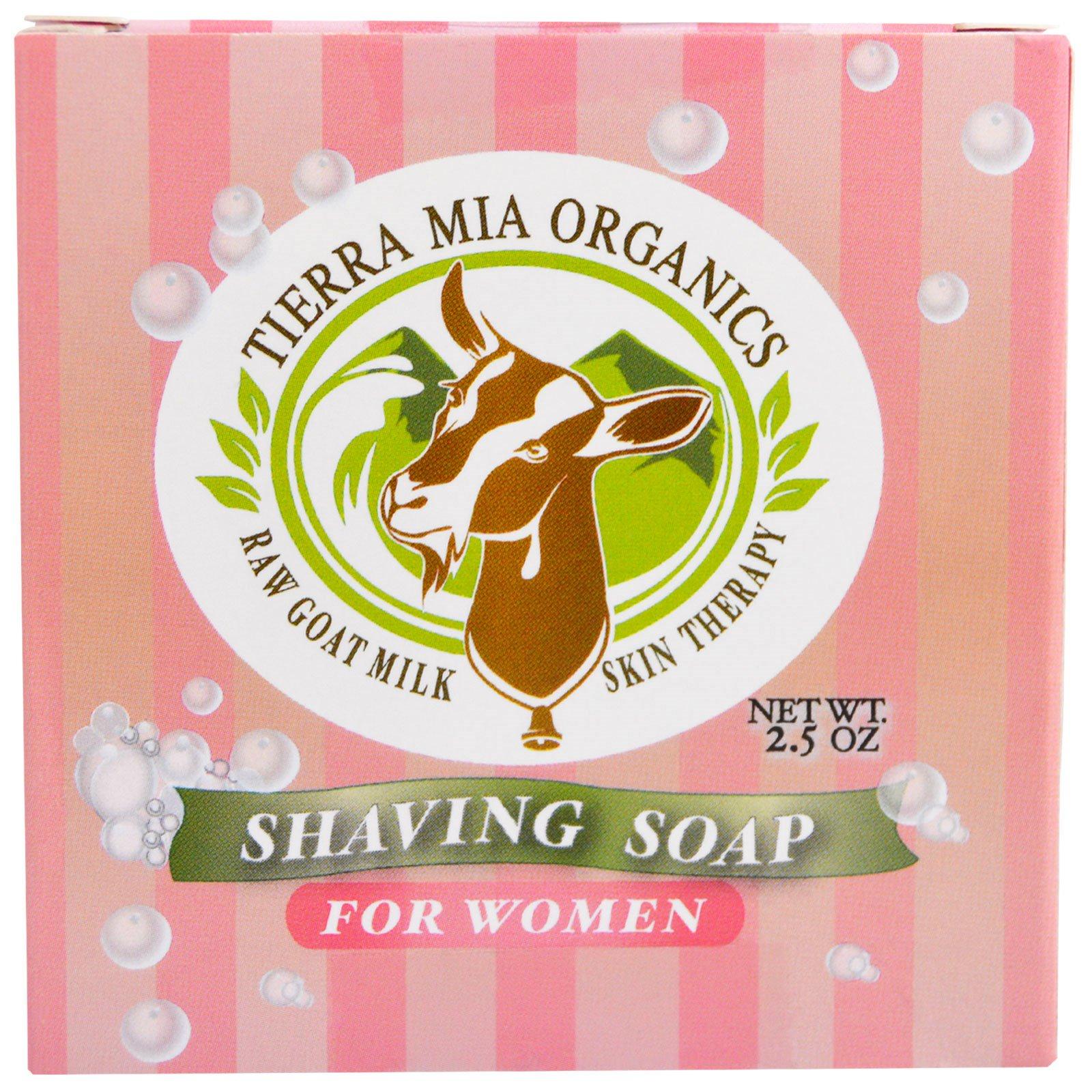 Tierra Mia Organics, Средства для ухода за кожей на основе сырого козьего молока, мыло для бритья для женщин, 2,5 унции