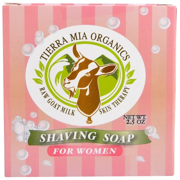 Tierra Mia Organics, Raw Goat Milk Skin Therapy, Shaving Soap For Women, 2.5 oz