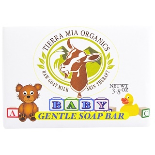 Tierra Mia Organics, Raw Goat Milk Skin Therapy, Baby, Gentle Soap Bar, 3.8 oz