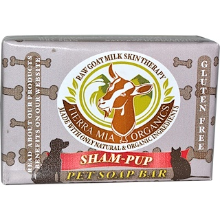 Tierra Mia Organics, Raw Goat Milk Skin Therapy, Sham-Pup, Pet Soap Bar, 4.2 oz