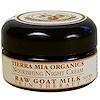 Tierra Mia Organics, Лечебное средство для кожи с сырым козьим молоком, питательный ночной крем, 2 унции
