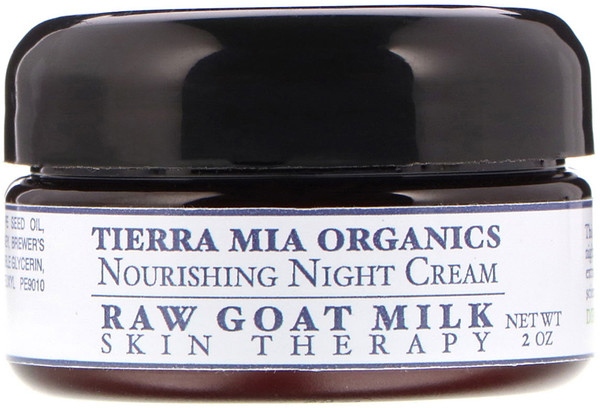 Tierra Mia Organics, Raw Goat Milk Skin Therapy, Nourishing Night Cream, 2 oz (Discontinued Item)