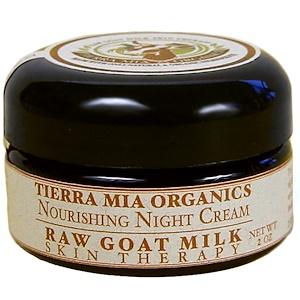 Tierra Mia Organics, Лечебное средство для кожи с сырым козьим молоком, питательный ночной крем, 2 унции купить на iHerb