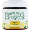 Tierra Mia Organics, زبدة الجسم، حليب الماعز الخام، علاج للجلد، لويزة ليمونية، 4 أوقية سائلة (113 غرام)