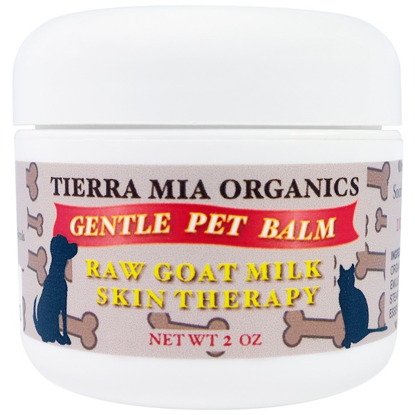 Tierra Mia Organics, Raw Goat Milk Skin Therapy, Gentle Pet Balm, 2 oz (Discontinued Item)