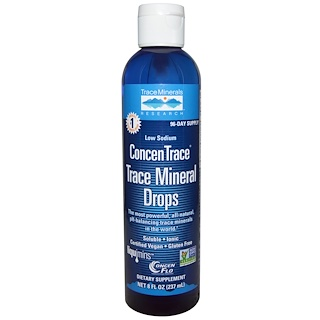 Trace Minerals Research, ConcenTrace, Trace Mineral Drops, 8 fl oz (237 ml)