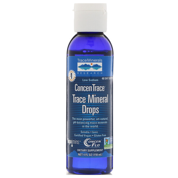 Trace Minerals Research, ConcenTrace, Trace Mineral Drops, 4 fl oz (118 ml)