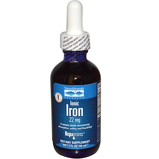Trace Minerals Research, Ionic Iron, 22 mg, 2 fl oz (59 ml)