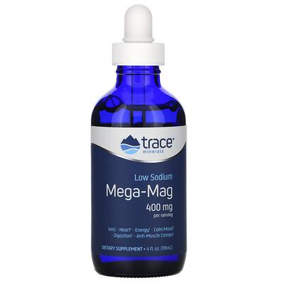 Trace Minerals Research Mega-Mag с низким содержанием натрия, 400 мг, 118 мл (4 жидк. унции)