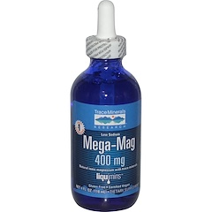 Trace Minerals Research, Mega-Mag, Natural Ionic Magnesium with Trace Minerals, 400 mg, 4 fl oz (118 ml)