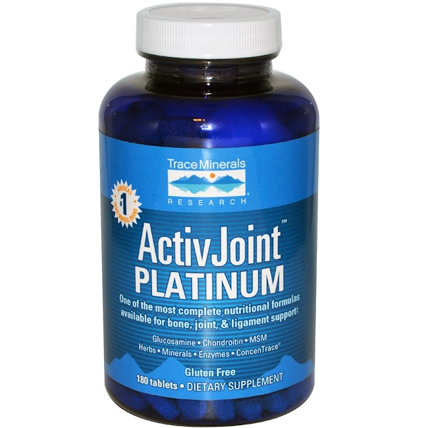 Trace Minerals Research, ActivJoint Platinum, 180 Tablets (Discontinued Item)