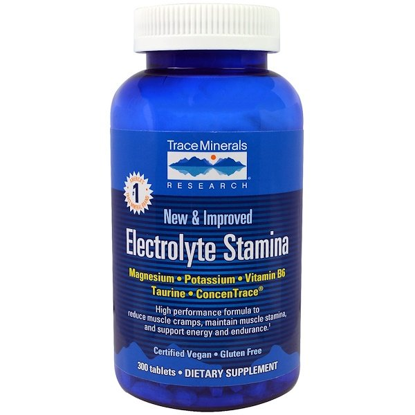 Trace Minerals Research, Electrolyte Stamina, 300 Tabletas