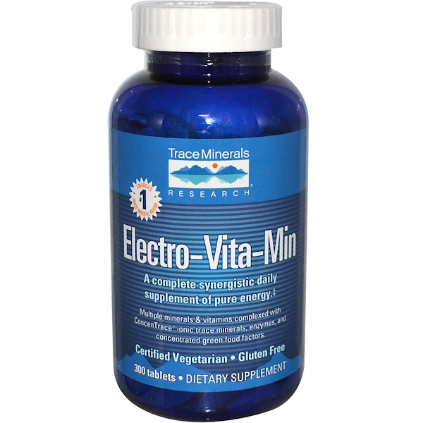 Trace Minerals Research, Electro-Vita-Min, 300 Tablets (Discontinued Item)
