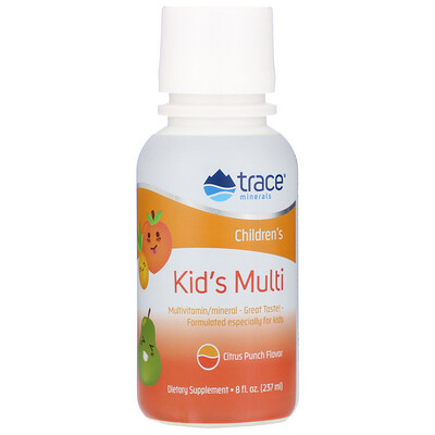Купить Trace Minerals Research Детские мультивитамины, цитрусовый пунш, 237 мл (8 жидких унций)