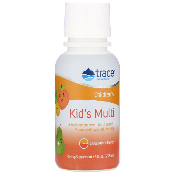 Trace Minerals Research, Kid's Multi, Citrus Punch Flavor, 8 fl oz (237 ml)