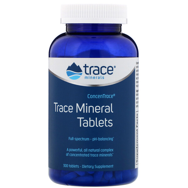 Trace Minerals Research, ConcenTrace, Trace Mineral Tablets, 300 Tablets
