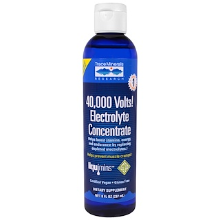 Trace Minerals Research, 40,000 Volts! Electrolyte Concentrate, 8 fl oz (237 ml)