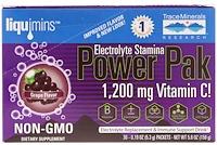 Электролиты Stamina Power Pak, виноград, 1 200 мг, 30 пакетов. 0,19 унц. (5,3 г) каждый - фото
