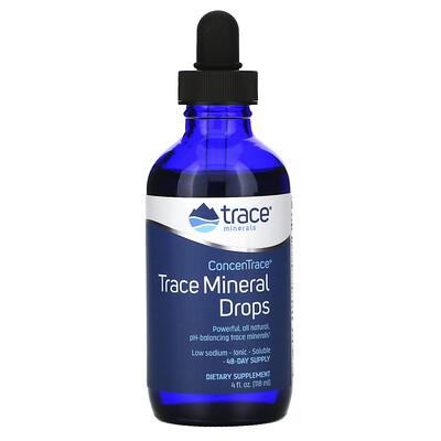 Trace Minerals Research ConcenTrace, микроэлементы в каплях, 118 мл (4 жидк. унции)
