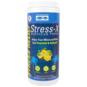 Трасе Минералс Ресерч, Stress-X, Magnesium Powder, Lemon Lime, 17.6 oz (500 g) отзывы