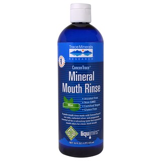 Trace Minerals Research, ConcenTrace Mineral Mouth Rinse, Mint, 16 fl oz (473 ml)