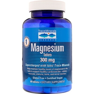 Купить Trace Minerals Research Магний, 300 мг, 60 таблеток