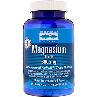 Trace Minerals Research, マグネシウム、300 mg、タブレット 60錠