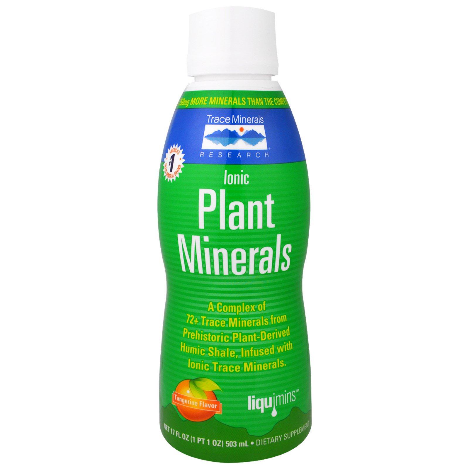 Trace Minerals Research, Ионные Растительные Минералы, Вкус Мандарина, 17 жидких унций (503 мл)