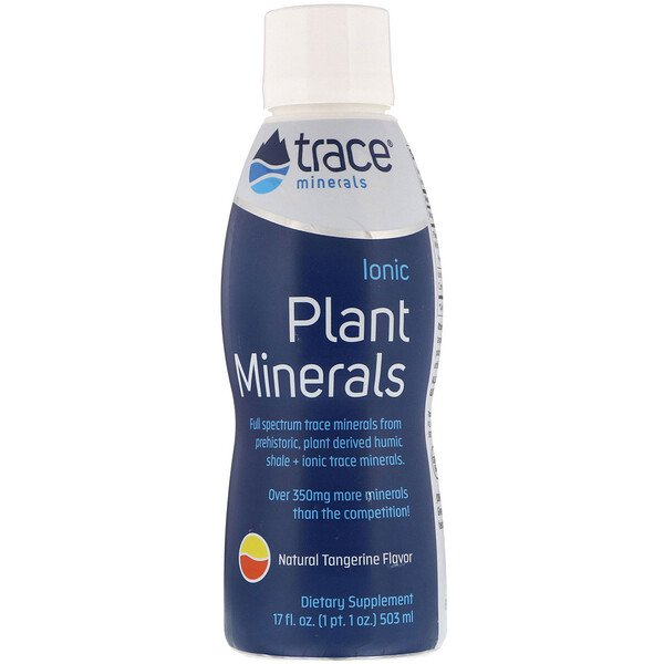Trace Minerals Research, Ionic Plant Minerals, Natural Tangerine Flavor, 17 fl oz (503 ml)