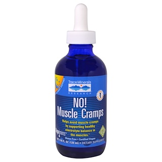 Trace Minerals Research, No! Calambres musculares, 4.06 fl oz (120 ml)