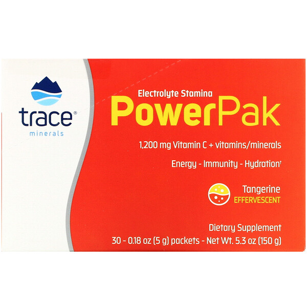 Electrolyte Stamina PowerPak, Tangerine, 30 Packets, 0.18 oz (5 g) Each