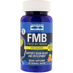 Trace Minerals Research, FMB Feed My Brain, For Children, Fruit Punch Flavor, 60 Chewable Wafers