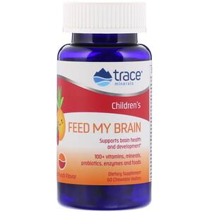 Трасе Минералс Ресерч, Children's, Feed My Brain, Fruit Punch Flavor, 60 Chewable Wafers отзывы