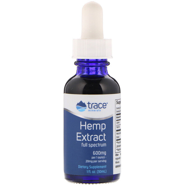 Trace Minerals Research, Hemp Extract, 600 mg, 1 fl oz (30 ml)