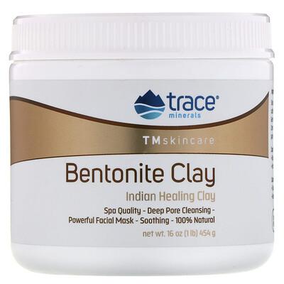 Купить Trace Minerals Research Бентонитовая глина, индийская лечебная глина, 454г