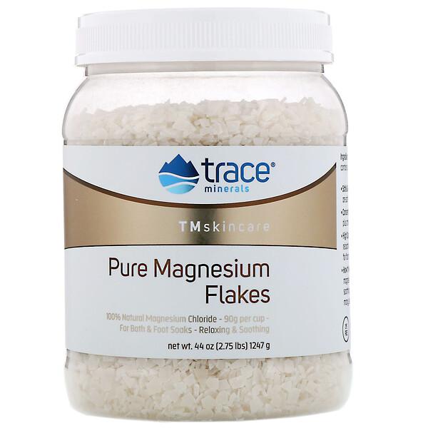 Cuidado de la piel con oligoelementos, Copos de magnesio puros, 1247g (2,75lb)