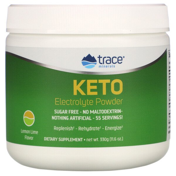 Keto Electrolyte Powder, Sugar Free, Lemon Lime Flavor, 11.6 oz (330 g)