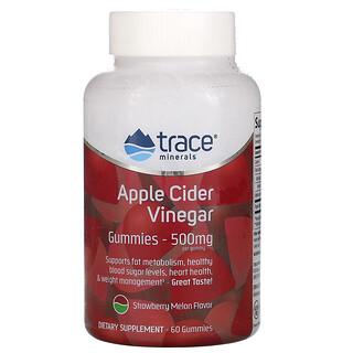 Trace Minerals Research, 蘋果醋軟糖,草莓蜜瓜味,500 毫克,60 粒裝