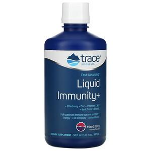 Trace Minerals Research, Fast-Absorbing Liquid Immunity+, Mixed Berry, 30 fl oz (887 ml)'