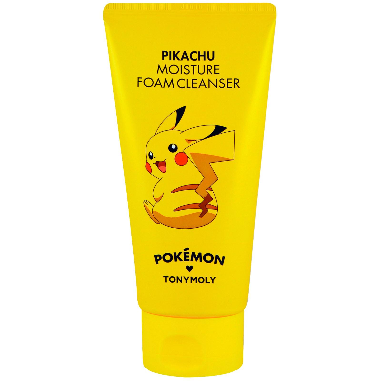 Tony Moly, Покемон, пенное чистящее средство, увлажняющее, Pikachu, 150 мл