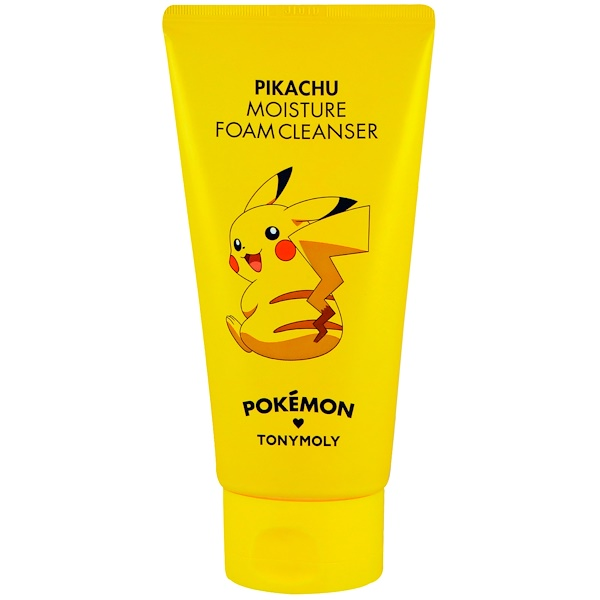 Tony Moly, Покемон, пенное чистящее средство, увлажняющее, Pikachu, 150 мл (Discontinued Item)