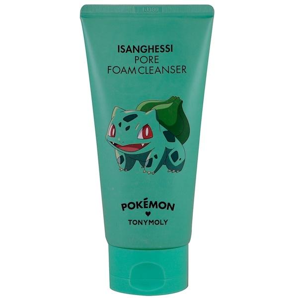 Tony Moly, Pokemon, пенное чистящее средство, поры, Isanghessi, 150 мл (Discontinued Item)