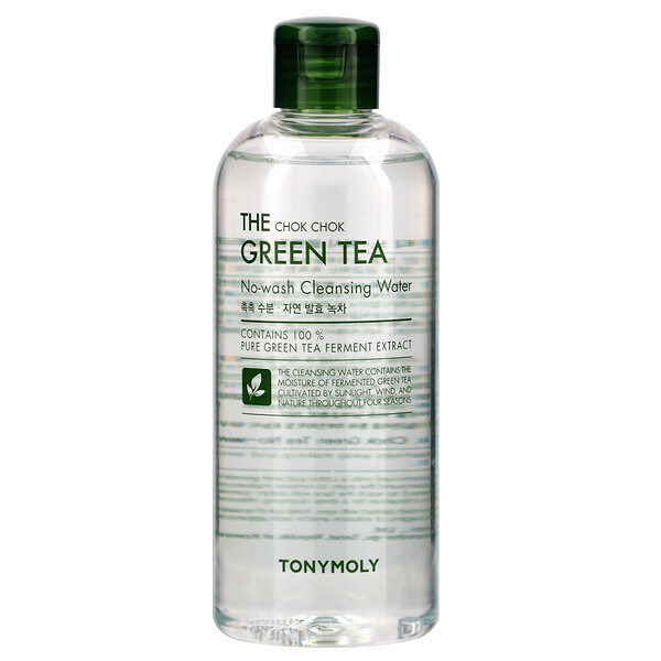 Tony Moly, The Chok Chok Green Tea, No-Wash Cleansing Water, 300 ml (Discontinued Item)