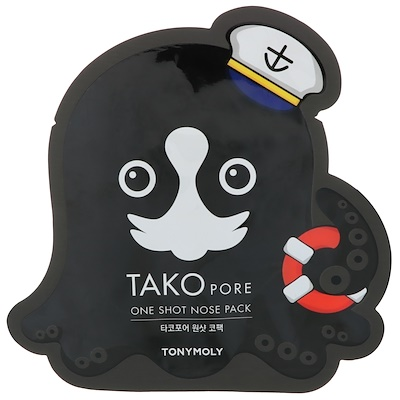 Tony Moly Tako Pore, одноразовая упаковка для носа, 1 салфетка  - купить со скидкой