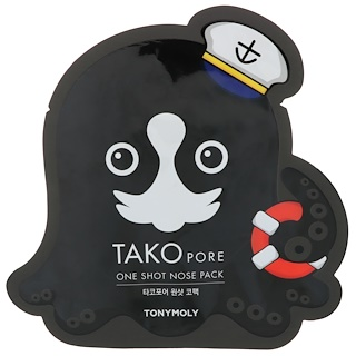 Tony Moly, Tako Pore - One Shot Nose Pack - 1 feuille