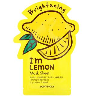 Tony Moly, I'm Lemon, Brightening Beauty Mask Sheet, 1 Sheet, 0.74 oz (21 g)